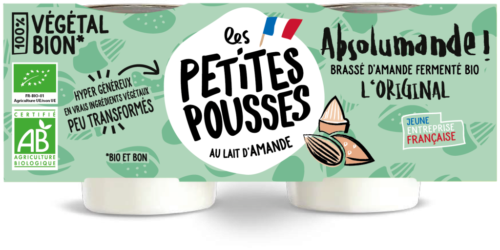 Vrai faux yaourt lait d'amande nature