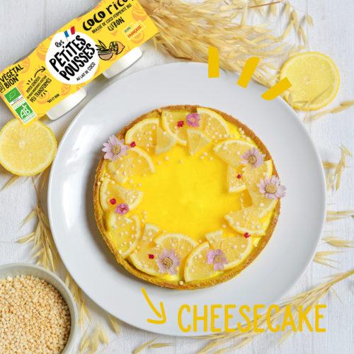 Cheesecake citron coco vegan